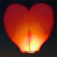 Небесный фонарик желаний - сердце HS102